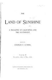 The Land of Sunshine: A Southern California Magazine, Volume 4