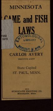 Minnesota Game and Fish Laws
