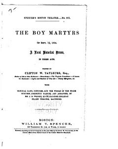 The Boy Martyrs of Sept  12  1814 Book