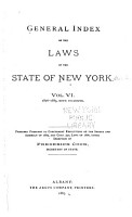 General Index of the Laws of the State of New York PDF