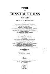 Traité des constructions rurales et de leur disposition: Volumes1à2