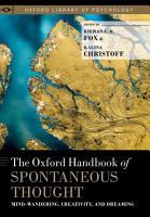 The Oxford Handbook of Spontaneous Thought PDF