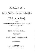 Dictionary of the English and German Languages: German and English