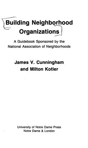 Building Neighborhood Organizations