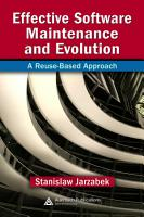 Effective Software Maintenance and Evolution PDF