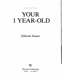 Your 1 Year Old PDF