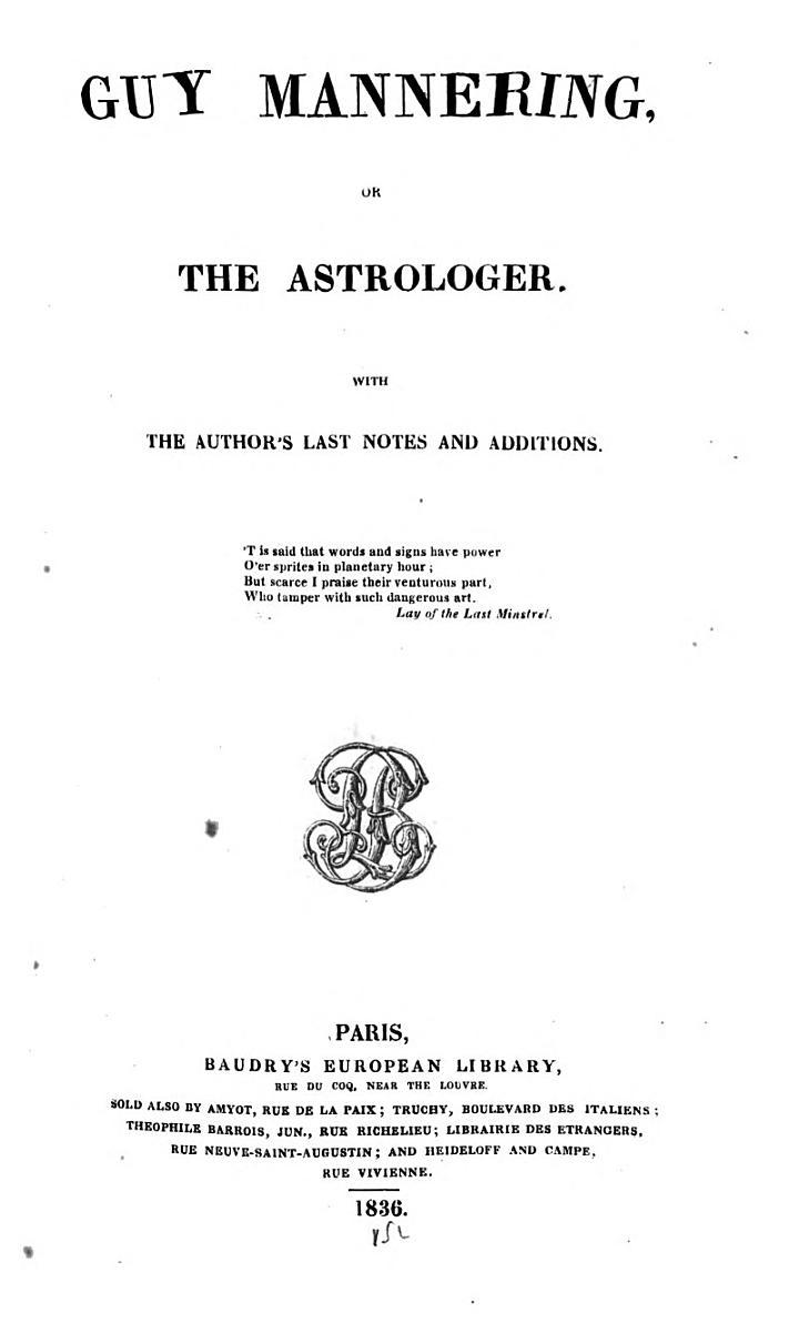 Scott's Novels