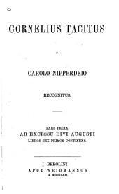 Cornelius Tacitus: Volumes 1-2