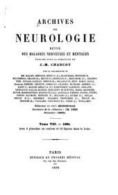 Archives internationale de neurologie, des maladies héréditaires, de médicine mentale et psychosomatique: Volume8