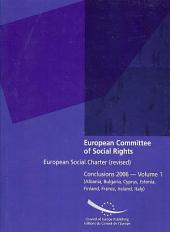 European Committee of Social Rights: European Social Charter (Revised) - Conclusions 2006 - Volume 1 (Albania, Bulgaria, Cyprus, Estonia, Finland, Fra