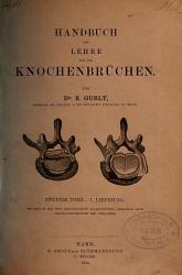 Handbuch der Lehre von den Knochenbr  chen PDF