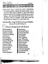 Extraict de l'estat des notaires, procureurs postulans, huissiers & sergens royaux... ledit estat arresté au Conseil royal des finances le 22e iour de iuin 1665