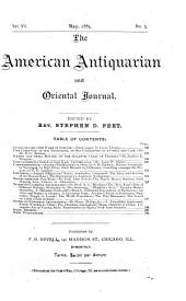 The American Antiquarian and Oriental Journal: Volume 7