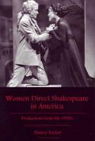 Women Direct Shakespeare in America PDF