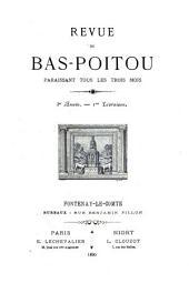 La Revue du Bas-Poitou et des Provinces de l'Ouest: Volume3