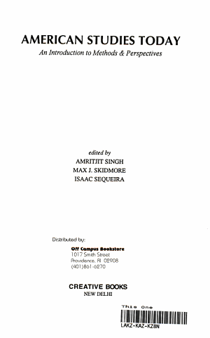 American Studies Today PDF