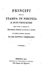 Principj della stampa in Perugia e suoi progressi per tutto il secolo xv