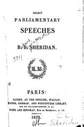 Select Parliamentary Speeches