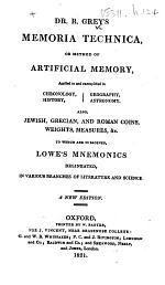 Memoria technica ... A new edition