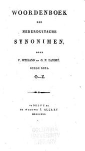 Woordenboek der Nederduitsche synonimen: Volume 3