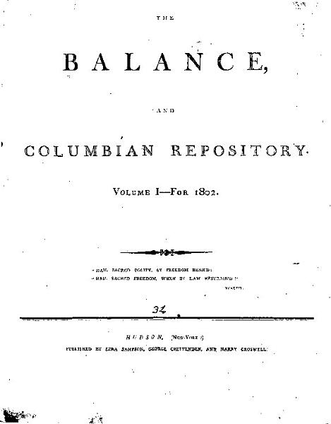 The Balance And Columbian Repository