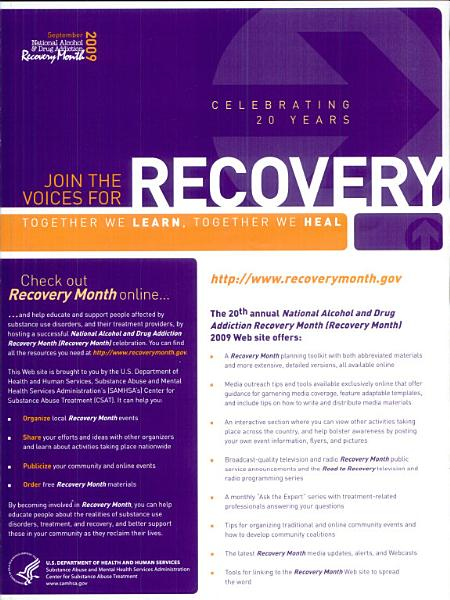 Join the voices for recovery PDF