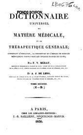 Dictionnaire universel de matière médicale et de thérapeutique générale: contenant l'indication, la description et l'emploi de tous les médicaments connus dans les diverses parties du globe