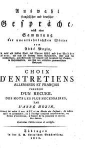 Auswahl französischer und deutscher Gespräche: nebst einer Sammlung der unentbehrlichsten Wörter ...