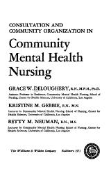 Consultation and Community Organization in Community Mental Health Nursing PDF