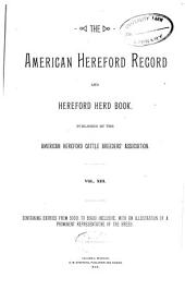 American Hereford Record and Hereford Herd Book: Volume 13