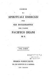Corso di spirituali Esercizi per gli Ecclesiastici