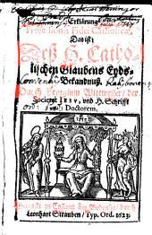 Erklärung Professionis Fidei Catholicae, Das ist: Deß H. Catholischen Glaubens Eyds-Bekandnuß