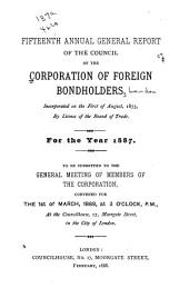 Report of the Council of the Corporation of Foreign Bondholders: Volume 15