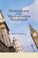 Federalism and the Westminster Tradition PDF
