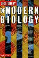 Dictionary of Modern Biology PDF