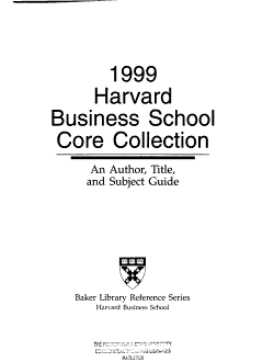 Harvard Business School Core Collection PDF