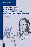 G  W  F  Hegel     Grundlinien der Philosophie des Rechts PDF