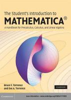 The Student s Introduction to MATHEMATICA    PDF