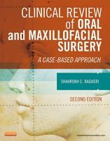 Clinical Review of Oral and Maxillofacial Surgery   E Book PDF