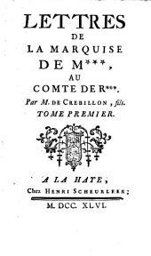 Lettres de la marquise de M. ...