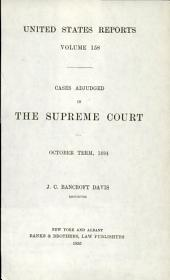 United States Reports: Cases Adjudged in the Supreme Court, Volume 158