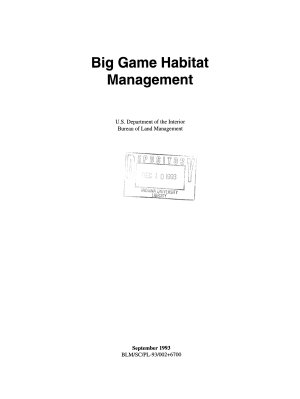 Big Game Habitat Management