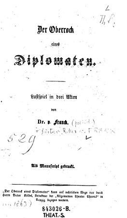 Der    Oberrock eines Diplomaten PDF