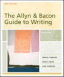 Allyn and Bacon Guide to Writing  Brief Edition  The  Books a la Carte Plus MyCompLab Blackboard WebCT PDF