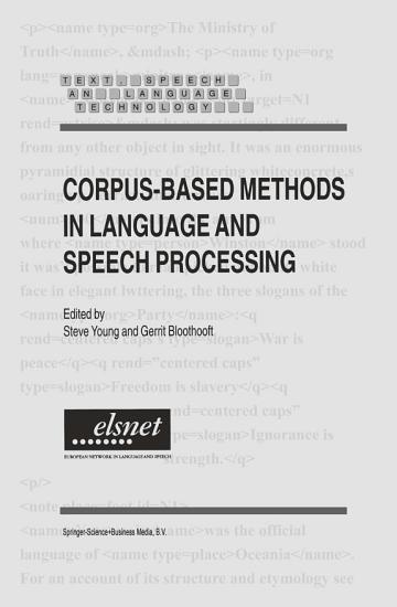 Corpus Based Methods in Language and Speech Processing PDF