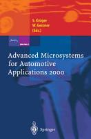 Advanced Microsystems for Automotive Applications 2000 PDF