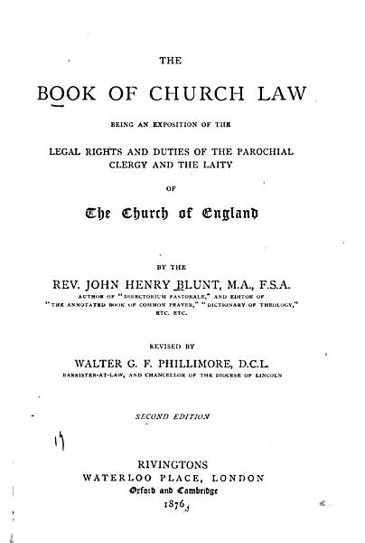 The Book of Church Law