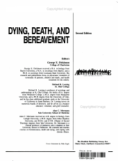 Dying  Death  and Bereavement PDF