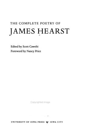 The Complete Poetry of James Hearst