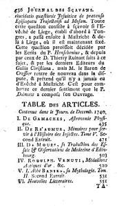 Le Journal des Scavans: Volume122